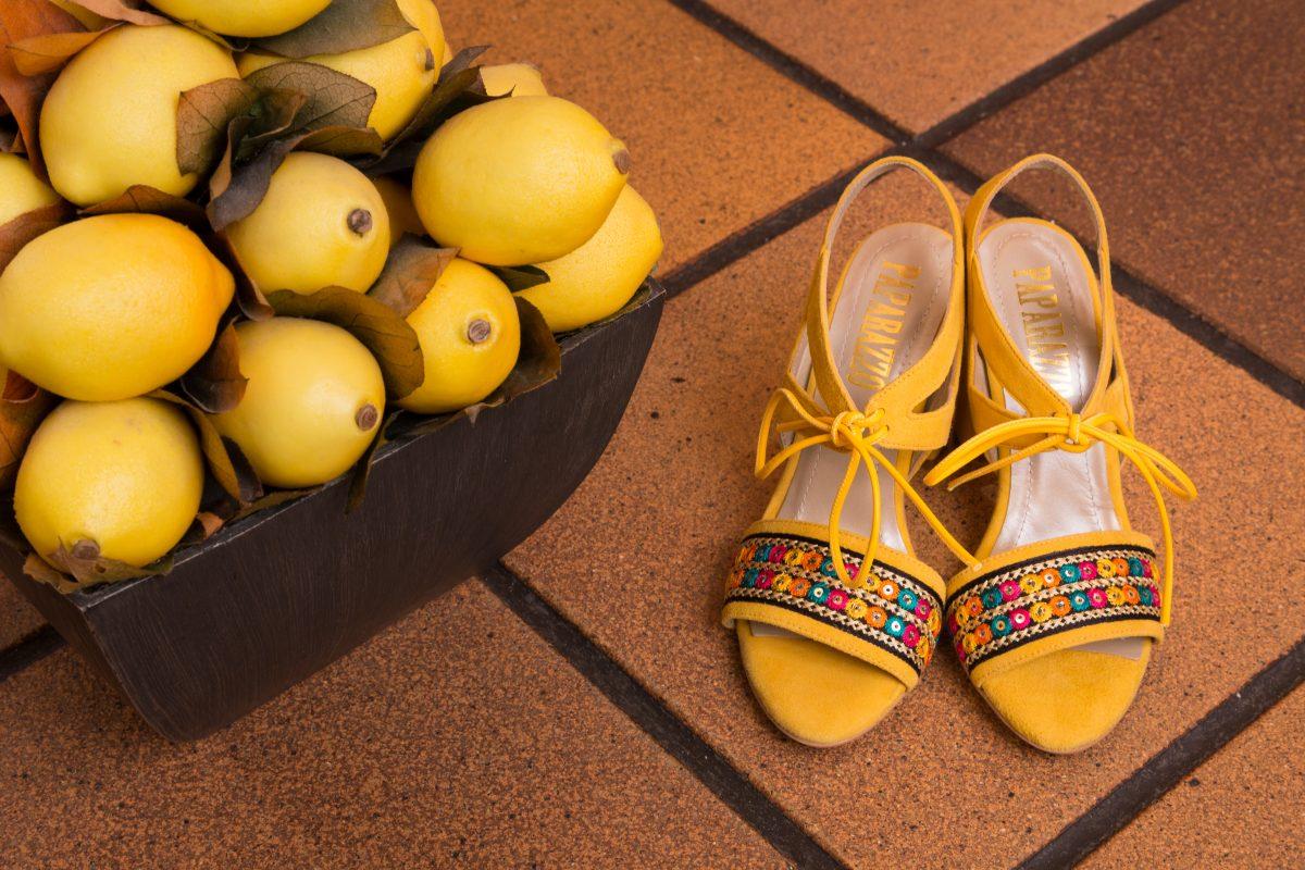 moda zapatos amarillos originales tallas grandes