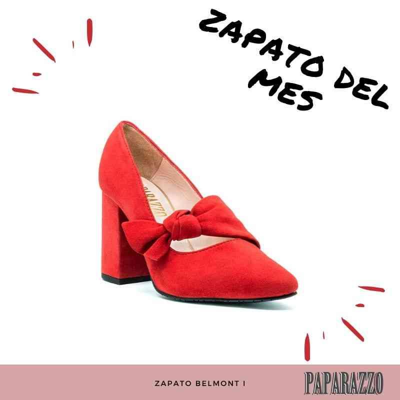 Zapato rojo de tacón